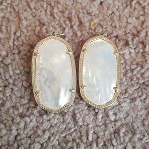 Kendra Scott Danielle White Pearl Earrings